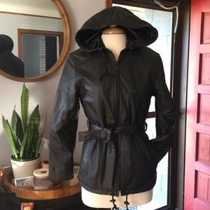 Real Leather Belted Coat || Wilson's Leather